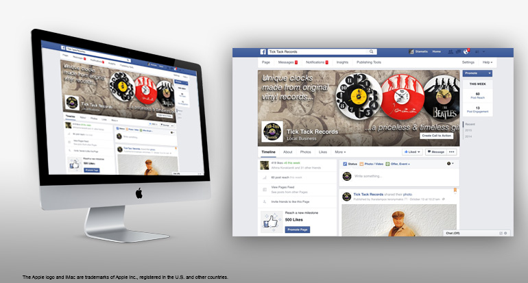 Facebook web design